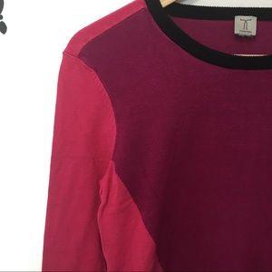 Tristan color block scoop neck sweater Sz S